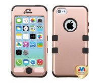 Apple iPhone 5/5s Rose Gold/Black TUFF Hybrid Phone Protector Cover