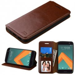 HTC 10 Brown Wallet with Tray