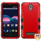 ZTE Obsidian Natural Red/Black Hybrid Phone Protector Cover