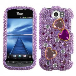 HTC myTouch 4G Slide Love Crash Diamante Case