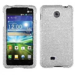 LG Escape Silver Diamante Case