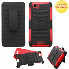 Blu Studio Energy D810 Black/Red Advanced Armor Stand Case with Black Holster