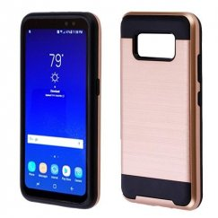 Samsung Galaxy S8 Active Rose Gold/Black Brushed Hybrid Case