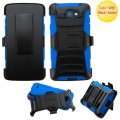 LG Lancet Black/Blue Advanced Armor Stand Case with Black Holster