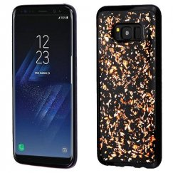 Samsung Galaxy S8 Rose Gold Flakes (Black) Krystal Gel Series Candy Skin Cover
