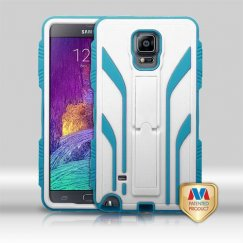 Samsung Galaxy Note 4 Natural Cream White/Tropical Teal Extreme Hybrid Case