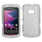 Alcatel One Touch 918 Silver Diamante Case