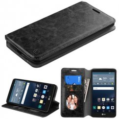 LG G Stylo Black Wallet with Tray