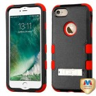 Apple iPhone 7 Natural Black/Red Hybrid Phone Protector Cover (with Stand)