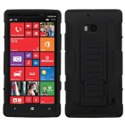 Nokia Lumia Icon Black/Black Car Armor Stand Case - Rubberized
