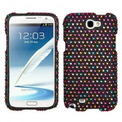 Samsung Galaxy Note 2 Sprinkle Dots Diamante Case
