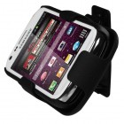 Samsung Galaxy Ring Rubberized Black Hybrid Holster with Stand