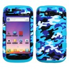 Samsung Galaxy S Blaze 4G SGH-T769 Aquatic Camouflage/Tropical Teal Hybrid Phone Protector Cover