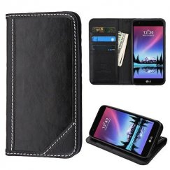 LG K10 Black Genuine Leather Wallet