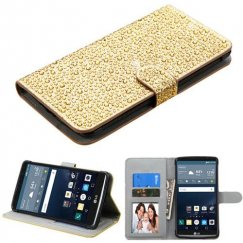 LG G Stylo Gold Diamante Wallet