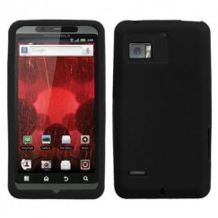 Motorola Droid Bionic Solid Skin Cover - Black
