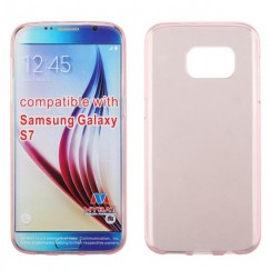 Samsung Galaxy S7 Glossy Transparent Rose Gold Candy Skin Cover
