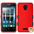 Alcatel Fierce 4 / Pop 4 Plus / Allura Titanium Red/Black Hybrid Case