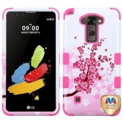 LG G Stylus 2 Spring Flowers/Electric Pink Hybrid Case