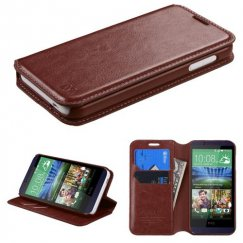 HTC Desire 510 Brown Wallet with Tray