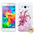 Samsung Galaxy Grand Prime Spring Flowers/Solid White Hybrid Case