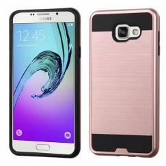 Samsung Galaxy A7 Rose Gold/Black Brushed Hybrid Case