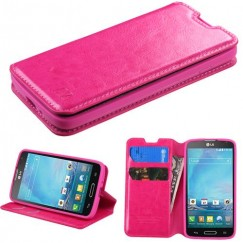 LG Optimus L90 Hot Pink Wallet with Tray