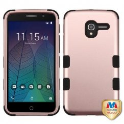 Alcatel Stellar / Tru 5065 Rose Gold/Black Hybrid Case