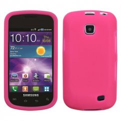 Samsung Illusion SCH-i110 Solid Skin Cover - Hot Pink