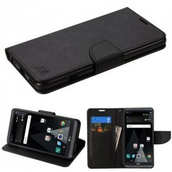 LG V20 Black Pattern/Black Liner wallet with Card Slot