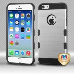 Apple iPhone 6/6s Silver/Black Brushed Hybrid Case