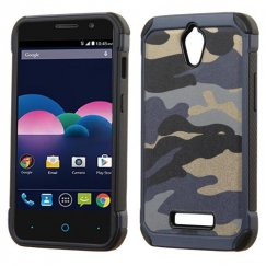 ZTE Obsidian Camouflage Navy Blue Backing/Black Astronoot Case