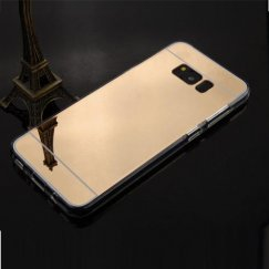Samsung Galaxy S8 Gold/Transparent Clear Gummy Cover