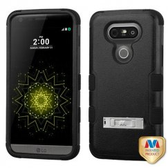 LG G5 Natural Black/Black Hybrid Case with Stand