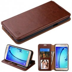 Samsung Galaxy On5 Brown Wallet with Tray