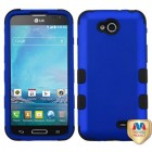 LG Optimus L90 Titanium Dark Blue/Black Hybrid Case