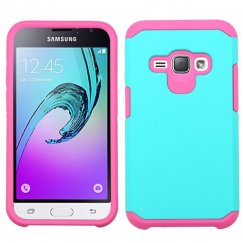 Samsung Galaxy J1 Teal Green/Hot Pink Astronoot Case