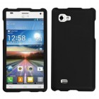 LG Optimus 4X HD Black Phone Protector Cover(Rubberized)