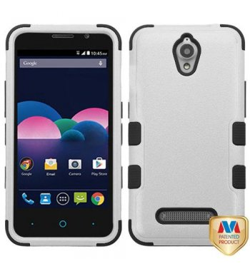 ZTE Obsidian Natural Gray/Black Hybrid Phone Protector Cover