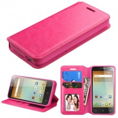 Alcatel One Touch Elevate Hot Pink Wallet with Tray