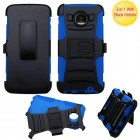 Motorola Moto Z Force Black/ Blue Advanced Armor Stand Protector Cover (With Black Holster)