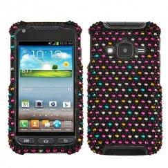Samsung Galaxy Rugby Pro Sprinkle Dots Diamante Case