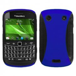 Blackberry Bold 9930 Rubberized Dark Blue/Black Mixy Case