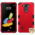 LG G Stylus 2 Titanium Red/Black Hybrid Phone Protector Cover