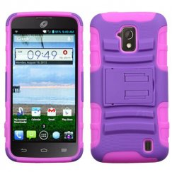 ZTE Solar Purple/Electric Pink Advanced Armor Stand Case