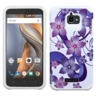 Coolpad Catalyst Purple Hibiscus Flower Romance /White Advanced Armor Case