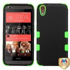 HTC Desire 626 Rubberized Black/Electric Green Hybrid Case