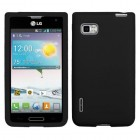LG Optimus F3 Solid Skin Cover - Black
