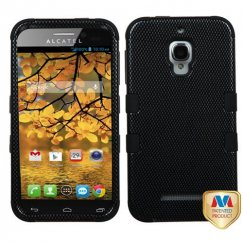 Alcatel One Touch Fierce Carbon Fiber/Black Hybrid Case