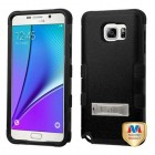 Samsung Galaxy Note 5 Natural Black/Black Hybrid Case with Stand